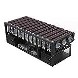 Fostar Boitier de minage ouvert avec outils et accessoires rack pour 6-10 processeurs graphiques pour bitcoin ether cryptomonnaie