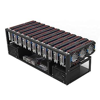 Trefc Stackable Open Mining Rig Frame 6/8/12 Gpu Bitcoin Mining Case Rack Motherboard Bracket Open Mining Rig Frame-Rack Only