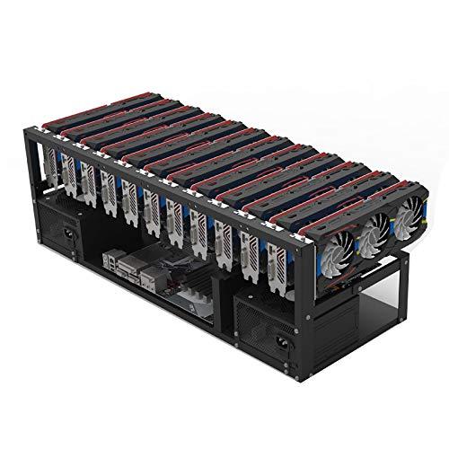Fostar Stapelbares Open Mining Rig Frame Mining ETH ETC ZEC Ether Zubehör-Tools Nur für 6-10 GPU Crypto Coin Bitcoin Rack