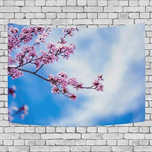 AEMAPE Tapiz de Dormitorio de Flor de Flor de Cerezo de Sakura Colgante de Pared Exclusivo Colgantes de Fondo Multiusos para Sala de Estar, Entrada y Cocina. 60x40 pulgadas-70
