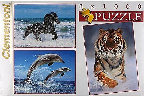 hasta 42% de descuento Assorted Animals Set of 3 1000-Piece Puzzles Puzzles Puzzles by Animal World  entrega rápida