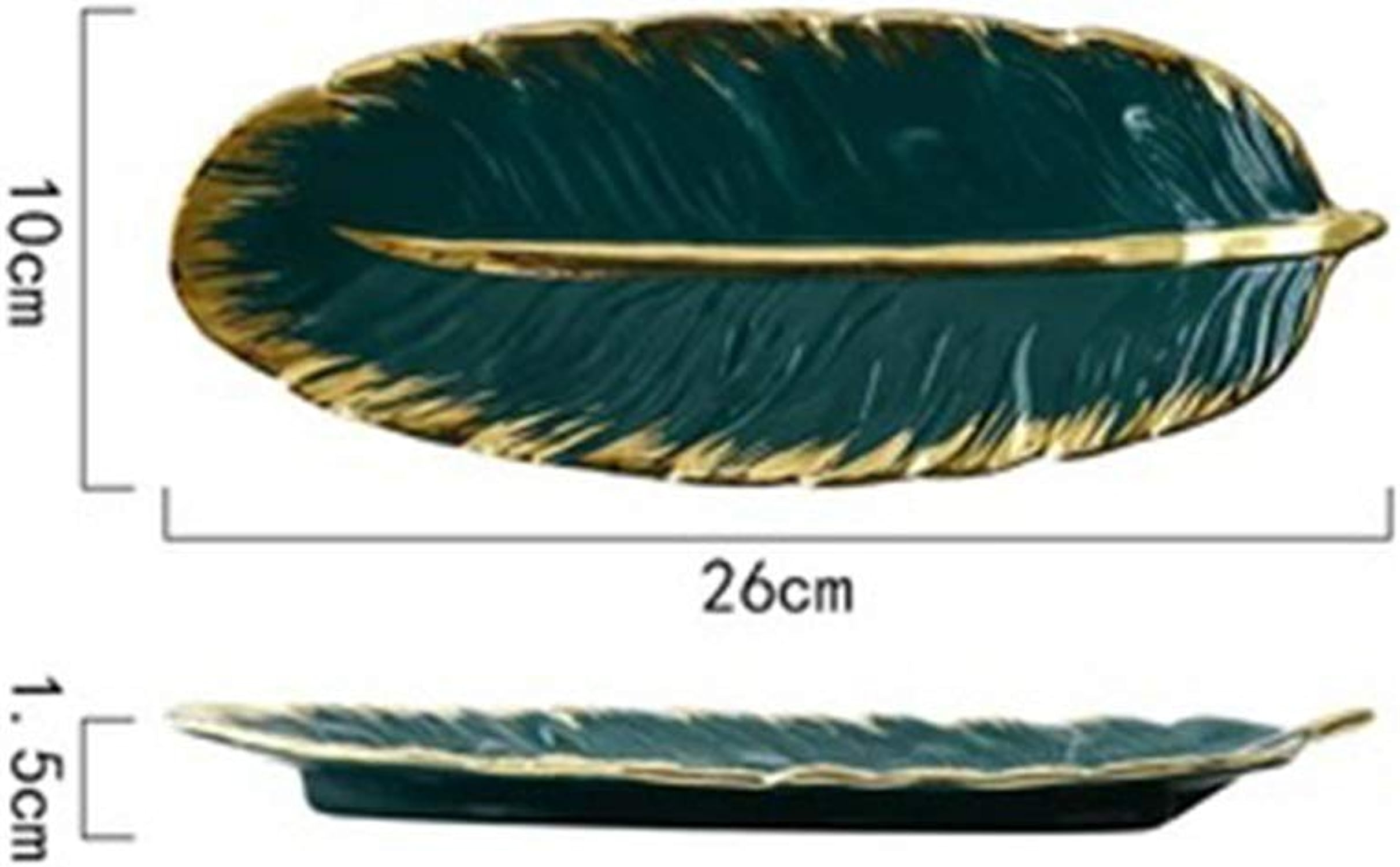 TAO 2 plats plaque feuille plat de poisson restaurant maison créative nordique vaisselle plaque en céramique plat unique (Couleur   A)