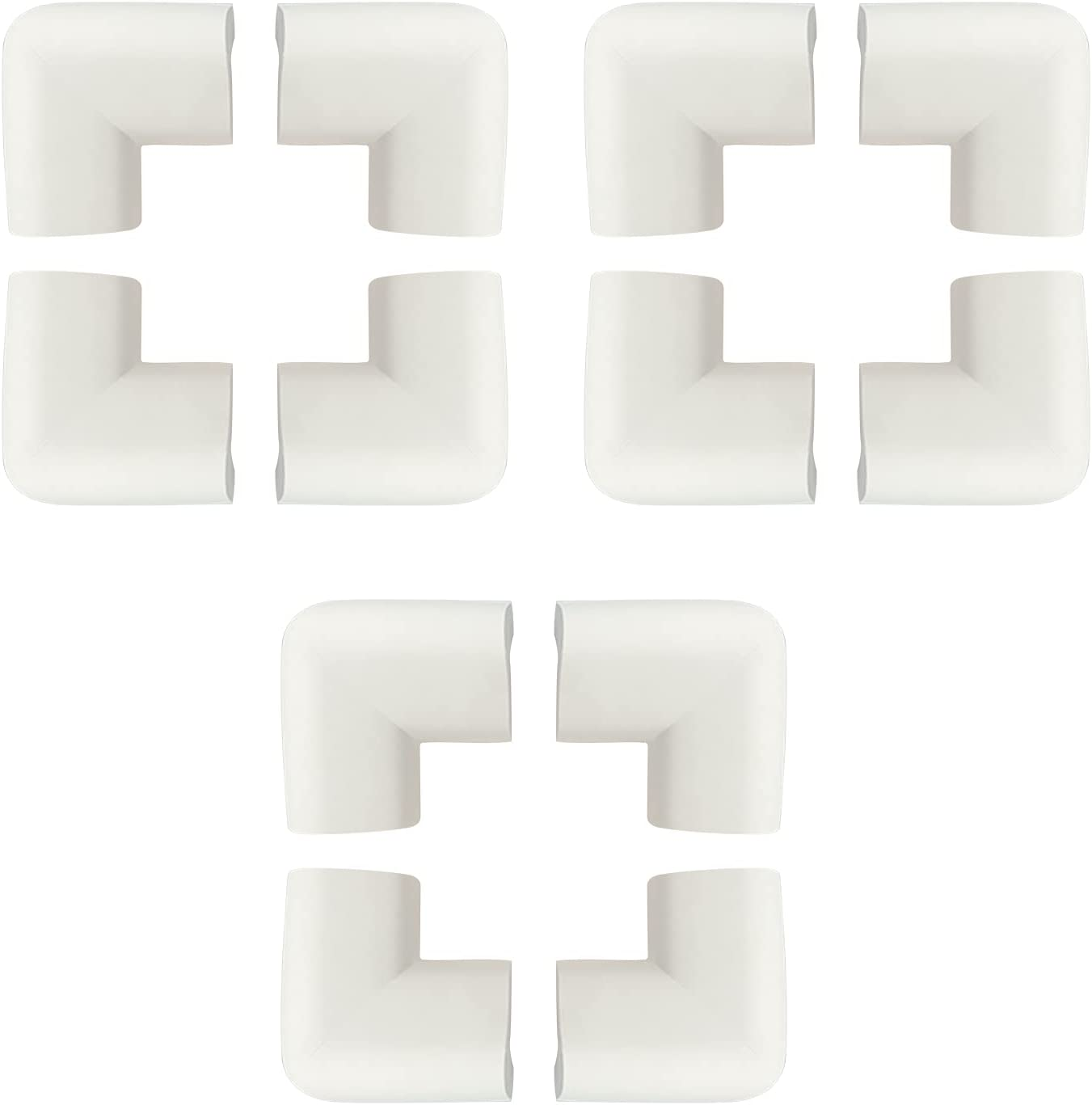 JANEMO 12 Pcs Baby Proofing Edge Corner Protector,6M Anti-Collision Durable Table Bumper Guard,Used for Home,School,Office,Early Childhood Training Room,White