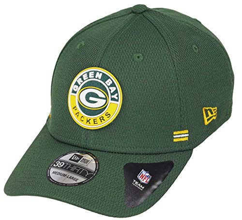 New Era Green Bay Packers 39thirty Stretch Cap NFL 2020 Sideline Road Alternative Green - S-M