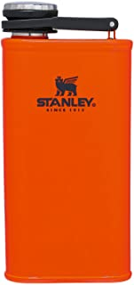 Stanley Classic Flask 8oz with Never-Lose Cap, Wide Mouth Stainless Steel Hip Flask for Easy...