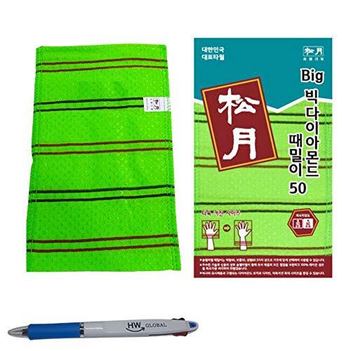(10 Pack) SongWol Korean Beauty Skin große Peeling-Handschuhe Badetuch Scrub Kleider waschen - Made in Korea grün