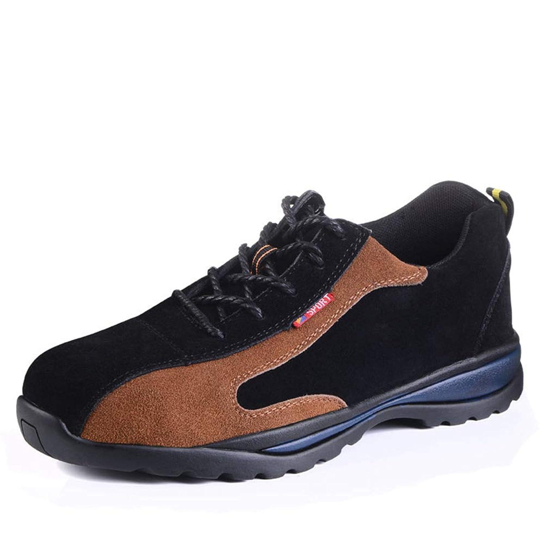 [Florai-JP] メンズ セーフティーシューズ 安全靴 作業靴 ワーキングシューズ カジュアルシューズ スエード レースアップ ローカット 春夏 鋼製先芯 刺す叩く防止 蒸れない 快適 鋼製ミッドソール 耐滑 耐油