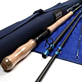 M MAXIMUMCATCH Maxcatch Spey Fly Rod 4-Piece Carbon Spey Rod Fly Fishing with Cordura Tube (13ft 6/7weight 4sec)