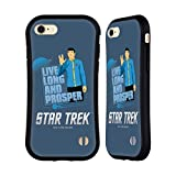 Official Star Trek Spock Iconic Characters TOS Hybrid Case Compatible for iPhone 7 / iPhone 8