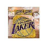 NAFE 2020 MVP de Los Angeles Lakers - Super Suave Microfibra Cama para niños-in-a-Bag lecho - Doble/Completo/Reina/Rey/Rey de California, California King