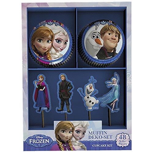 Dekoback 32086Muffin Set Frozen, 48Pezzi