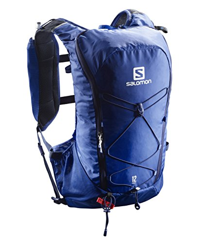 Salomon Mochila de running ligera 12L, AGILE 12 SET, Azul, L40163400