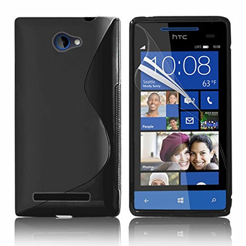 HCN PHONE HTC Windows Phone 8S Custodia S Line TPU Gel Custodia in silicone flessibile per HTC Windows Phone 8S