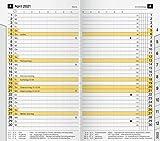 rido/idé 7046820001 Taschenkalender/Plankalender M-Planer Ersatzkalendarium, 2 Seiten = 1 Monat, 87 x 153 mm, Karton-Umschlag, Kalendarium 2021, mit Monatsregisterschnitt