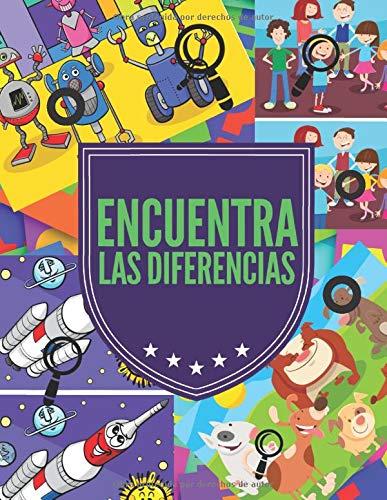 Encuentra las Diferencias: Busca y encuentra diferencias libros niños, 6 diferencias entre dos imágenes con respuestas, Libro de actividades para niños buscar objetos.