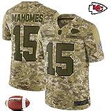 YWEIWEI Mnner Fuballtrikot -NFL Camo Salute to-Service - Stickerei-Kurzschluss SleeveSport Trikots T-Shirt Rugby Patrick Mahomes-XXXL