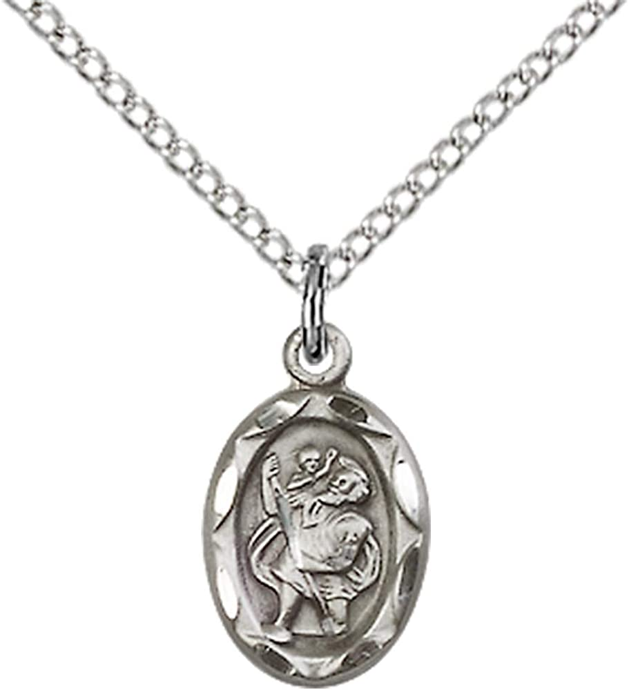 Max 51% OFF Jewels Obsession St. Christopher Pendant Sterling Superior Silver C