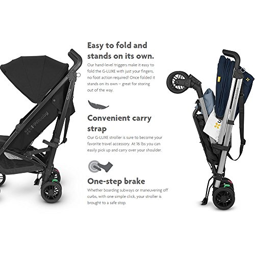 Image of 2018 UPPAbaby G-Luxe Stroller -Aidan (Denim/Silver)