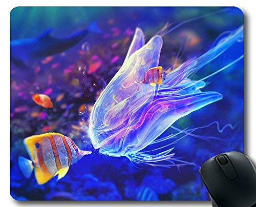 Mouse pad mat,Jelly Fish Theme Full of Personality Mouse pad