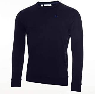 Calvin Klein Mens 2021 Crew Neck Stretch Insulated Wicking Sweater