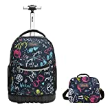 Tilami Rolling Backpack Laptop 18 inch with Lunch Bag, Weekend