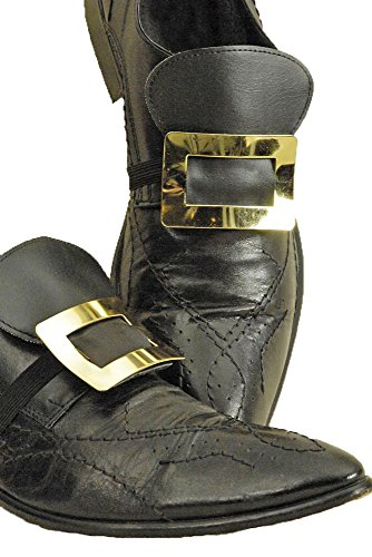 Shoe buckles, metal, a pair of gold