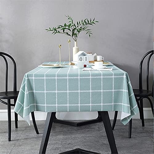 SUNFDD PVC-Kunststoff-Tischdecke Wasserdicht, Ölbeständig, Kratzfest Couchtisch Nordisch Modern Minimalistisch Rechteckiger Esstisch Picknicktisch Stofftisch 90x138cm(WxH) F