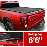 MaxMate Soft Roll Up Truck Bed Tonneau Cover Compatible with 2014-2018 Chevy Silverado/GMC Sierra 1500; 2015-2019 2500 HD 3500 HD; 2019 LD/Limited Only | Fleetside 6'6' Bed