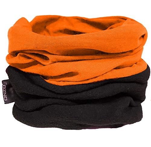 DINZIO Multifunktionstuch Gesichtsmaske Kopfbedeckung Halstuch Bandana Sturmhaube Schlauchschal Stretch Schlauchschal Stirnband Gr. Einheitsgröße, Orange