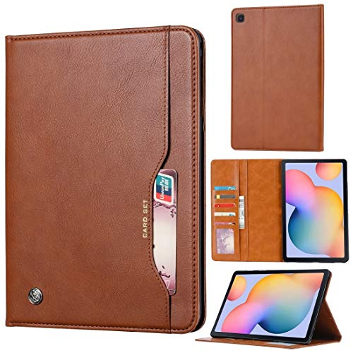 Protective case For Samsung Galaxy Tab S6 Lite / P610 / P615 Knead Skin Texture Horizontal Flip Leather Case with Photo Frame & Holder & Card Slots & Wallet, All buttons match(Black) ( Color : Brown )