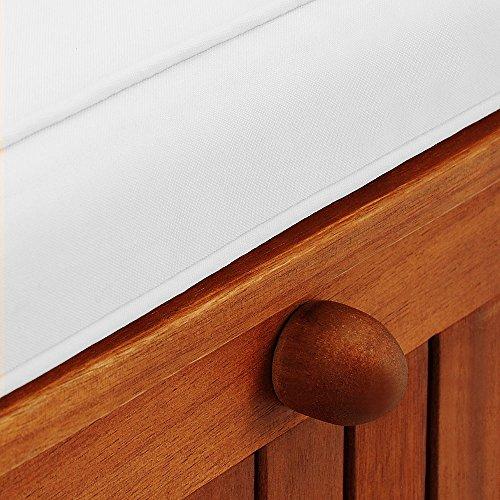 Gartenbank 2in1 ✔ mit Auflagenbox ✔ inkl Sitzauflage 120cm – Sitzbank Holzbank Parkbank Bank - 4