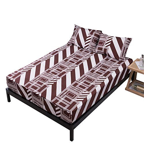 Whryspa Doble/Completo/Queen/King Size Cubierta del Protector del cojín del colchón Hipoalergénico Bed Bug Cubierta de colchón Impermeable,80X200+30cm