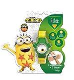Relec Pulsera Minions - Pulsera Infantil Con Citronela, Color Verde, Estándar