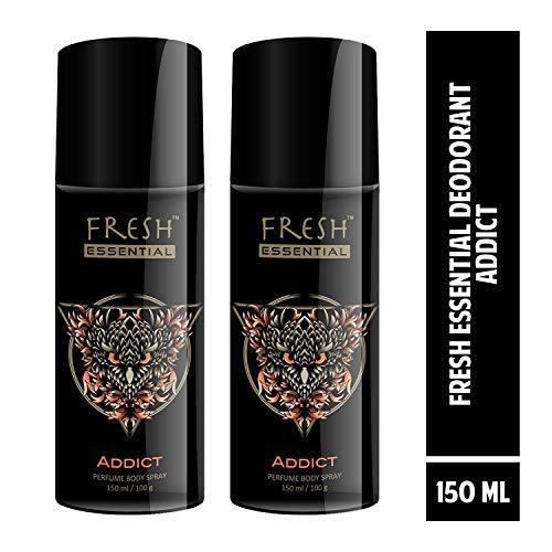 Fresh Essential Perfume Body Spray - Addict, 150 ml /100g (Pack of 2)