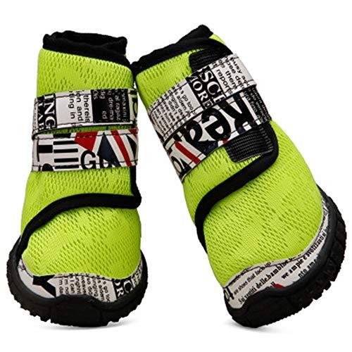 MYYXGS Hund Stiefel Pfotenschutz wasserdicht Pet Net Schuhe atmungsaktiv Belüftungslöcher für verletzte Pfoten Hundeschuhe geeignet für mittelgroße und große Hunde 9,0 * 8,0 cm