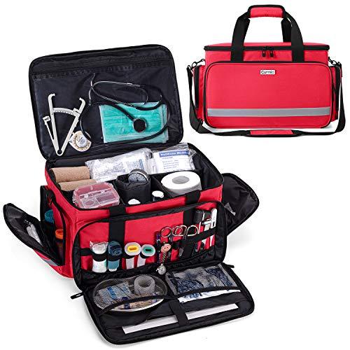 CURMIO Aufbewahrungstasche für Krankenschwester, Tragbar Medizintasche für Unterwegs, Erste Hilfe Set Tasche, Notfalltasche für Hausarzt, Medizinstudent,...