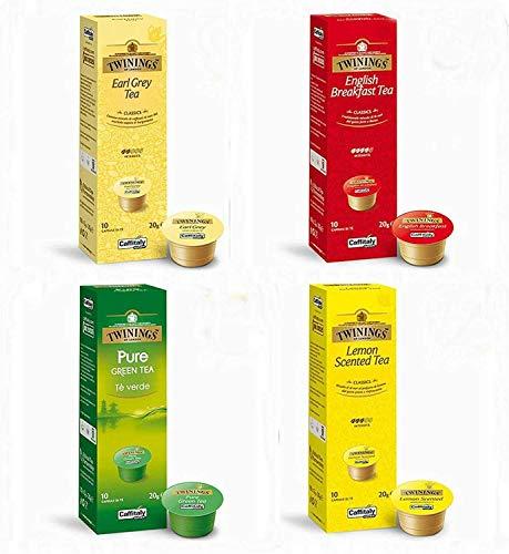 Caffitaly Écaffè - Tee Mix - 4 verschiedene Sorten - 40 Kapseln / Portionen - Cafissimo / Kfee Kompatibel