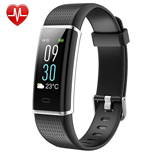 LETSCOM Fitness Tracker, Heart Rate Monitor Watch with Color Screen, IP68 Waterproof, Step Counter, Calorie Counter, Sleep Monitor, Pedometer, Smart Watch for Kids Women and Men