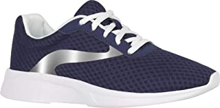 Athletic Works Women's Lightweight Mesh Trainer Shoes Navy Blue and White