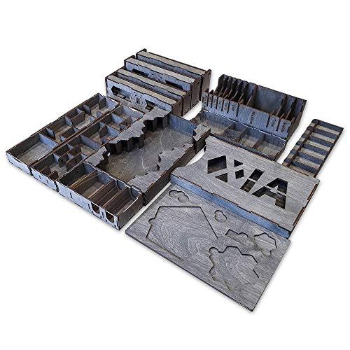 Smonex Holz-Organizer kompatibel mit Xia Brettspiel – Box geeignet für die Aufbewahrung aller Xia Gaming-Erweiterungen – Kit-Token-Box Karteneinsatz
