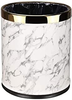 Kitchen Dustbin Trash Can Double Trash Can Marble Texture Surface Suitable for Family Living Room Bathroom Office Without ...