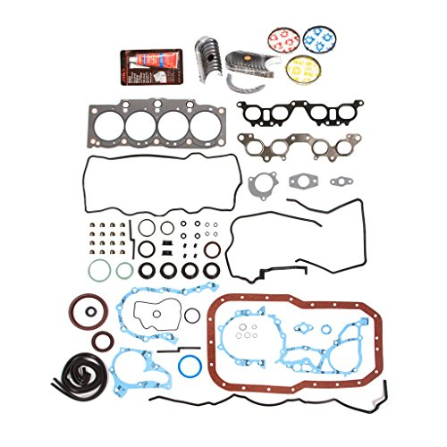 Evergreen Engine Rering Kit FSBRR2021EVE Compatible With 90-96 Toyota MR2 Camry 2.2 5SFE Full Gasket Set, Standard Size Main Rod Bearings, Standard Size Piston Rings