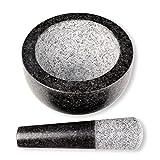 Schramm® Mörser mit Stößel - Set aus Granit anthrazit Mörser mit Schlegel aus Stein Mahlen von Gewürzen und Kräutern Gewürzmörser - 5