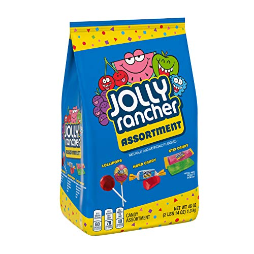 JOLLY RANCHER Lollipops, Hard Candy and Stix Assorted Fruit Flavored Candy, Valentine's Day, 46 Oz....
