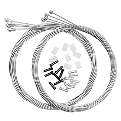 Dymoece Bicycle Derailleur Shifter Cables,Brake Cables Set for Shimano Sram Road Mountain Bike (Only for Road Bike)