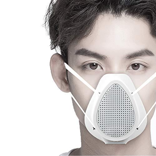 Elektrische Respirator Tragbarer Atmungsaktiv Luftreiniger mit Ersatzfilter Wiederverwendbare Gesichtsabdeckung USB wiederaufladbarem Luftfilter