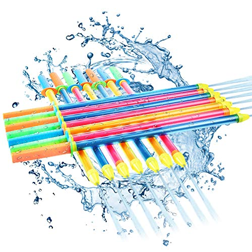 18 Pieces Crayon Water Guns Large Squirt Gun Colorful Spray Guns Cool Soaker Water Gun for Pool, Beach, Yard, Bath Toys Funny Party Supplies, 26 Inches