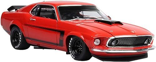 Envío y cambio gratis. GAOQUN-TOY 1 1 1 18 1969 Ford Mustang Boss 302 Street Car Edition Modelo de Coche Modelo de Modelo de aleación (Color   rojo, Tamaño   25cm10cm7cm)  Nuevos productos de artículos novedosos.