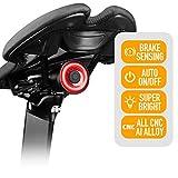ENFITNIX Fanalini posteriori per Bici Xlite 100 Luce di posizione USB ricaricabile Luce di frenata automatica Sensing LED Luce posteriore Smart IPX6 Impermeabile Night Warning Bicicletta Torcia
