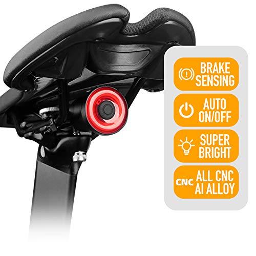 ENFITNIX Luces traseras de bicicleta Xlite 100 USB Recargable Luz Trasera Detección...